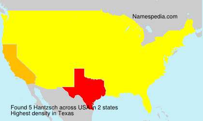 Surname Hantzsch in USA