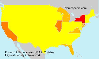 Surname Hanu in USA