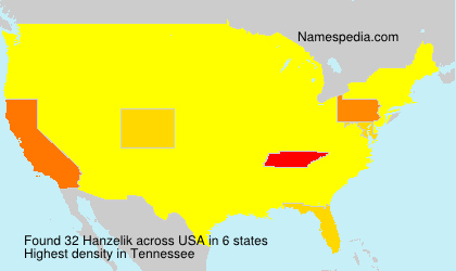 Surname Hanzelik in USA