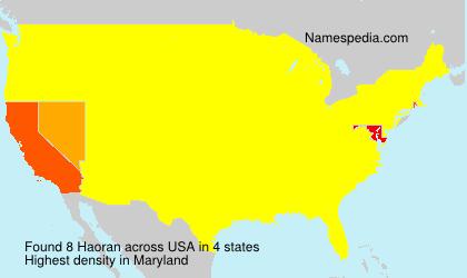 Surname Haoran in USA