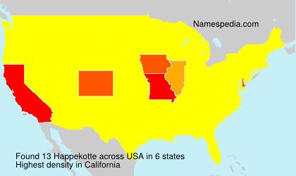 Surname Happekotte in USA