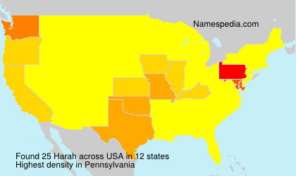 Surname Harah in USA