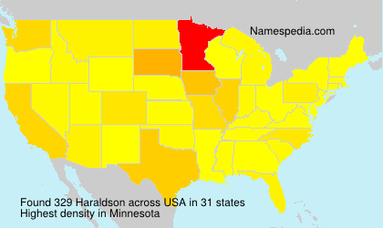 Surname Haraldson in USA