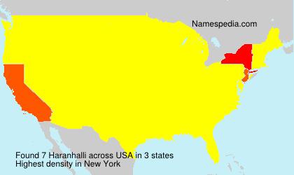 Familiennamen Haranhalli - USA