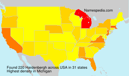 Surname Hardenbergh in USA