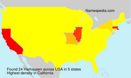 Surname Harhausen in USA