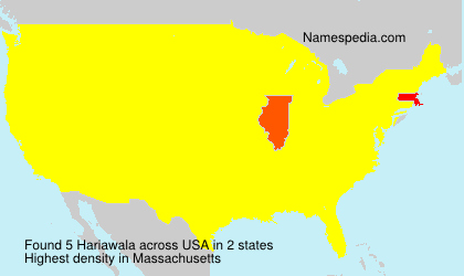 Surname Hariawala in USA