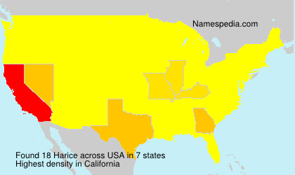 Surname Harice in USA
