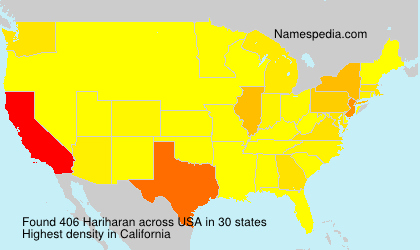 Surname Hariharan in USA
