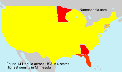 Surname Harjula in USA