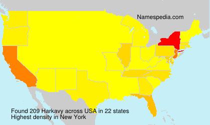 Familiennamen Harkavy - USA