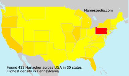 Surname Harlacher in USA