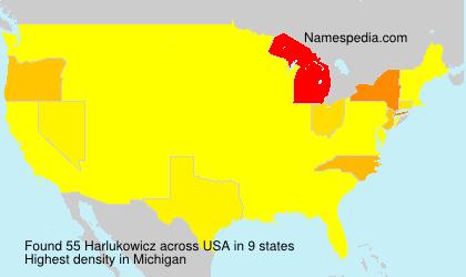 Surname Harlukowicz in USA