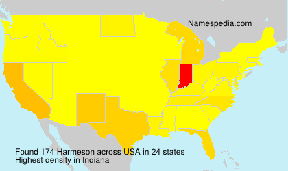 Surname Harmeson in USA