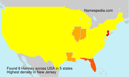 Surname Harmey in USA