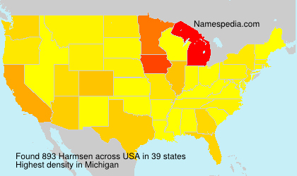 Surname Harmsen in USA