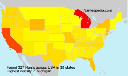 Familiennamen Harns - USA