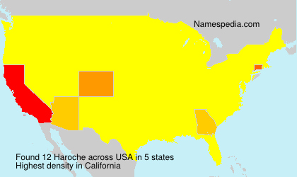 Surname Haroche in USA
