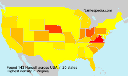 Surname Harouff in USA