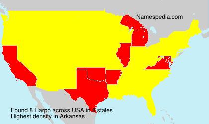 Familiennamen Harpo - USA