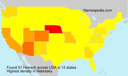 Familiennamen Harrach - USA
