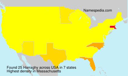 Familiennamen Harraghy - USA