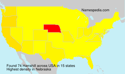 Surname Harrahill in USA