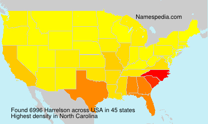 Surname Harrelson in USA