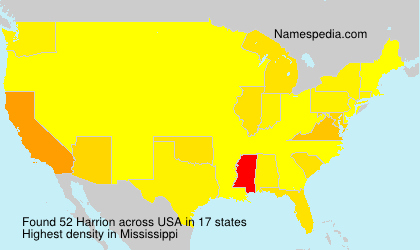 Surname Harrion in USA