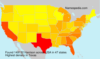 Surname Harrison in USA