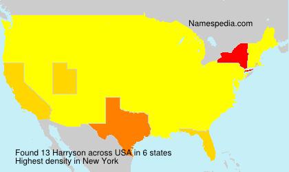 Surname Harryson in USA