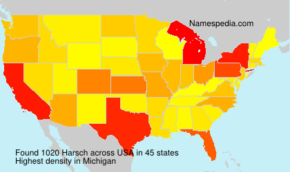 Surname Harsch in USA