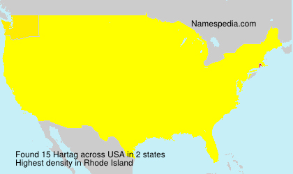 Familiennamen Hartag - USA