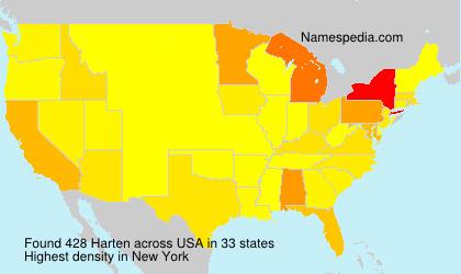 Surname Harten in USA
