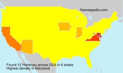 Surname Hartenau in USA