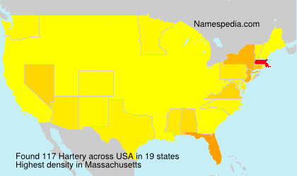 Surname Hartery in USA