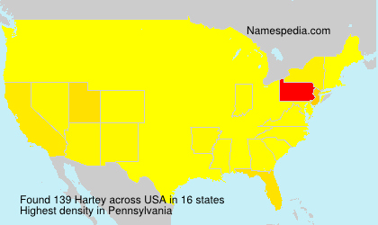 Surname Hartey in USA