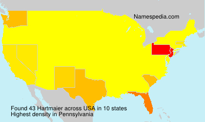 Surname Hartmaier in USA