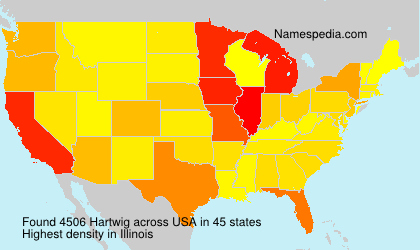Surname Hartwig in USA