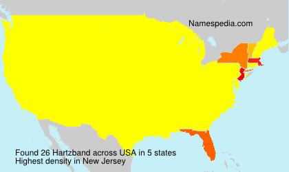 Familiennamen Hartzband - USA