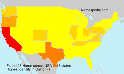 Surname Harue in USA