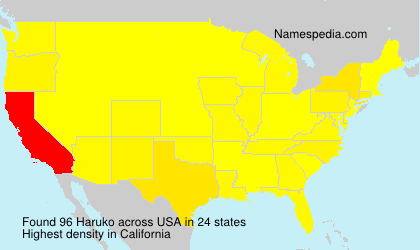 Surname Haruko in USA