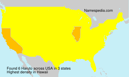 Surname Haruto in USA