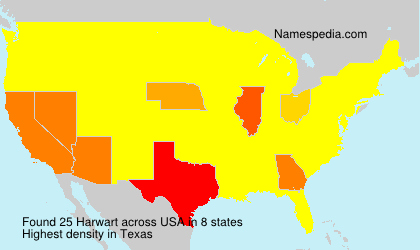 Surname Harwart in USA
