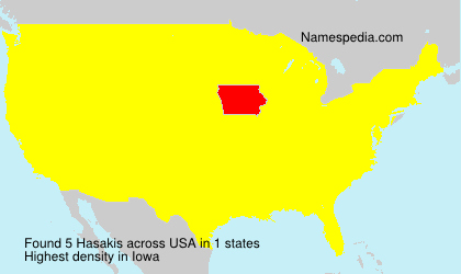 Familiennamen Hasakis - USA