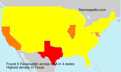 Surname Hasanuddin in USA