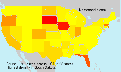 Surname Hasche in USA
