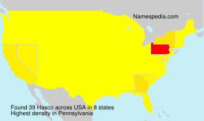 Surname Hasco in USA
