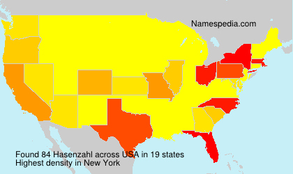 Surname Hasenzahl in USA