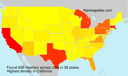 Surname Hashem in USA